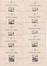 10 Stück Lobisser Gedenkblatt (Essayblock) Nummeriert