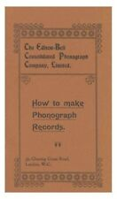 EDISON BELL booklet 'How to make Phonograph Records' - 1973 reprint by Fagin's