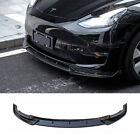 For 2020-2021 Tesla Model Y Front Bumper Chin Lip Body Spoiler Carbon Fiber Look