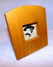 Vintage Thick Solid Blonde Wood Standing Picture Frame