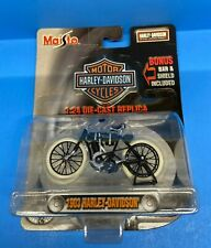 Maisto Harley Davidson 1:24 Black 1903 w/Bonus Bar & Shield