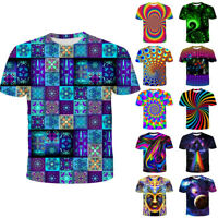Fashion Women//Mens psychedemia psychedelic trippy 3D Print Casual T-Shirt GB58