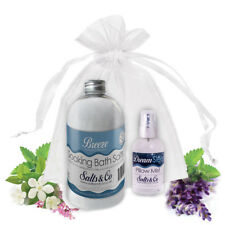 Bath Salts & Pillow Spray Gift Set Eucalyptus Rosemary Ylang Ylang & Rose
