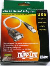 "U209-000-R TRIPP LITE USB to Serial RS-232 DB9M Adapter, 17"", for PC/MAC"
