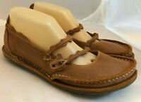 Sergio Tomani Sz 39 EU 8/9 US Mary Janes Brown Leather Cork Insole Eco Artisan