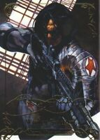 2018 Marvel Masterpieces Gold Foil Signature Series #30 Winter Soldier Tier 1
