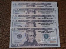 100 pieces $20 Bills ,Play Money,Bundle Prop Money Actual Size Magic props