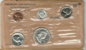 1955 US MINT-PROOF  SET ~~ FLAT PACK ~~ SILVER FRANKLIN