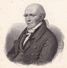 Portrait XIXe Stephen Girard  Bordeaux Gironde Banque Banquier Armateur 1836