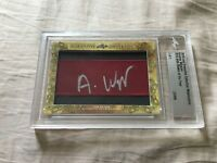 Andrew Wiggins 2018 Leaf Masterpiece Cut Signature signed autograph card 1/1 JSA