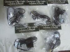 5 Single Clip Lights C7 Bulb On/Off Switch NEW  BROWN Cord CRAFTS & VILLAGES