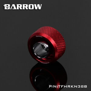 """Barrow G1/4"""" 13/10mm 3/8 - 1/2 Flexible Tube Compression Fitting Red - 213"""