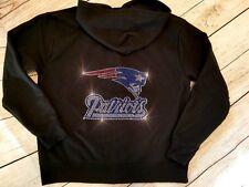 New Women's New England Patriots Zip Up Jacket Hoodie Sweatshirt Sz 2X