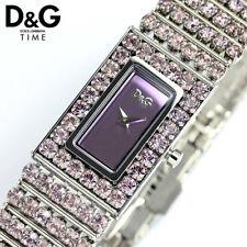 Orologio bracciale D&G Time donna, fashion lady, pietre viola, Water Resistant