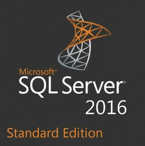 SQL Server 2016 Standard License Key 16 CPU Cores - Unlimited CAL - with ISO