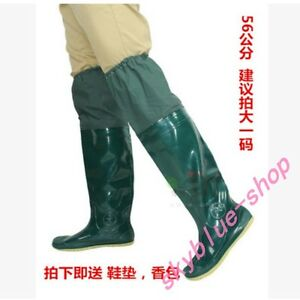 New Mens Rubber Rain Over Knee High Boots Anti-water Warm Work Casual Shoes Sz