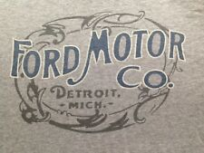 VINTAGE FORD MOTOR CO. DETROIT MICH. GRAY T SHIRT LARGE