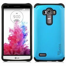 Sooper Cool Protective Hybrid Cover Case for LG G4 2015 Blue SC