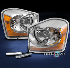 2004-2005 DODGE DURANGO CRYSTAL REPLACEMENT HEADLIGHTS LAMP CHROME W/DRL LED KIT