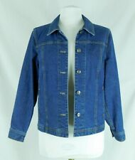 Appleseed's Petite Medium  Long Sleeve Blue Jean Jacket Perfect Condition!