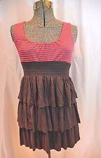 From Theme, Cotton Jersey Ruffle Mini Dress Sundress Size SMALL Flirty Styling