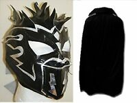 NEW BLACK KALISTO MASK CAPE CHILDRENS WRESTLING NEW FANCY DRESS UP COSPLAY WWE