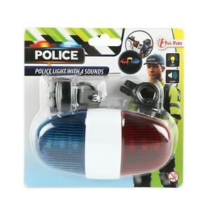 Fahrrad Polizeisirene Blaulicht Sound Töne Kinder Spielzeug Licht LED Sirene Rot