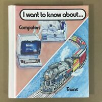 I Want to Know About Computers & Trains vtg book 1982 80s keypunch nostalgic fun