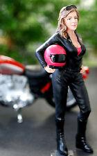 77488 American Diorama Female Biker, Moto camionista, 1:24, nuovo 2017 NUOVO