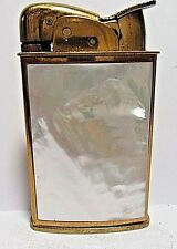 Vintage Evans Lighter, Beautiful Mother Of Pearl Inlays, Working Condition, USA