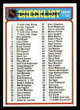 1978-79 Topps #24 Checklist 1-132 Unmarked MINT (ref 28139)