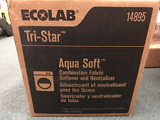 Ecolab 14895 Aqua Soft Combination Fabric Softener and Neutralizer 2.5 Gallon