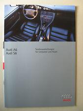 Prospekt Audi SONDERAUSSTATTUNG A6 S6 Limousine Avant 100 C4 Modelle 1996
