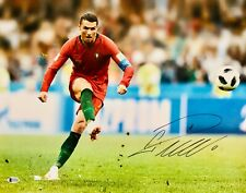 Cristiano Ronaldo Autographed Portugal 11 x 14 Photo Signed Kick BAS Beckett