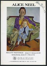 Alice NEEL (Artist): Signed Exhibition Flyer for 1976 Paintings Exhibition NYC