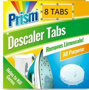 8x Kettle Descaler Tablets Limescale Remover - Prism works in 10 MINUTES
