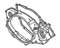 HONDA RIGHT CRANKCASE COVER WITH GASKET 94-01 CR500R 11340-MAC-670 11395-MAC-680