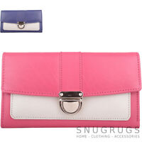 Ladies / Woments Genuine Soft Leather Tri-Fold Purse with Push Clip Fastening