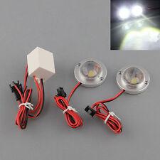 2 KIT Strobo con 2+2 luci bianche lampeggianti FLASH per auto TUNING luce led 3W