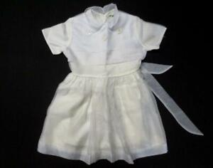 Cute Vintage Irving Mack Child's Young Girl's White Dress