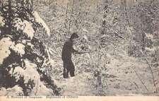 Ontario Canada Hunter Snow Scene Antique Postcard K70832