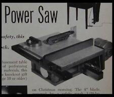 """Modelmakers Table Saw 4"""" Blade How-To build PLANS"""