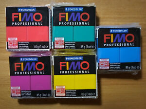 Fimo Professional Modeling Clay 3 OZ Price Lot of 5 Colors