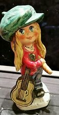 RARE Goebel Humel Children of Paris Figurine by Michel T. Guitar # 11025-14