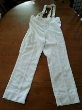 VTG 80's DEMOULIN MARCHING BAND WHITE PANTS w/ suspenders See DESCRIPTION for SZ