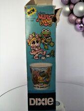 Vtg Jim Henson Muppet Babies Dixie 3 Oz Cups Miss Piggy Kermit Fonzie Bear