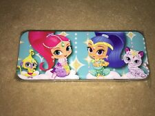 Nip Nickelodeon Shimmer And Shine Turquoise Blue Tin/Metal Pencil/Pen Case/Box