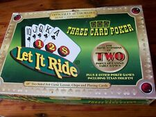 HOME CASINO GAME Set LET IT RIDE * THREE CARD POKER 2 Table Games