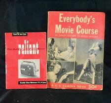 Kodak Reliant Video Camera Instruction Manual Cine Lens + Movie Course Book