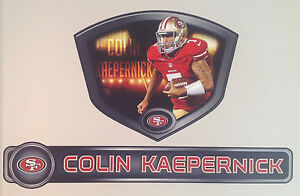 """Colin Kaepernick FATHEAD Official 49ERS Player Shield 21""""x17"""" & Name Graphic 36"""""""
